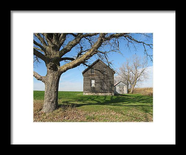 Farmhouses Framed Print featuring the photograph Lock The Door by Richard Stanford