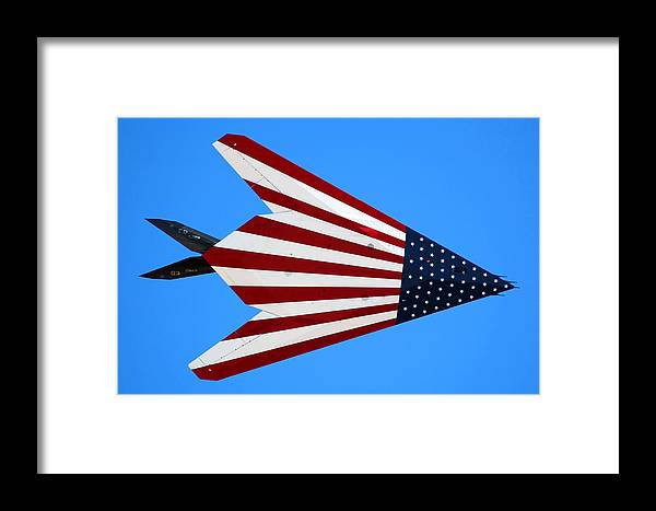 Airplane Framed Print featuring the photograph Lockheed Martin F-117a Stealth Fighter 79-10782 by Brian Lockett