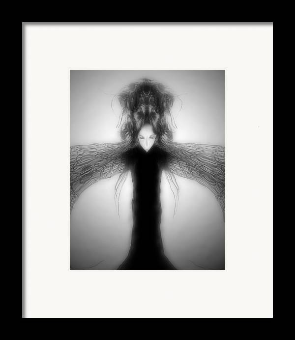 Gothic Framed Print featuring the digital art Locust Girl by Heather King