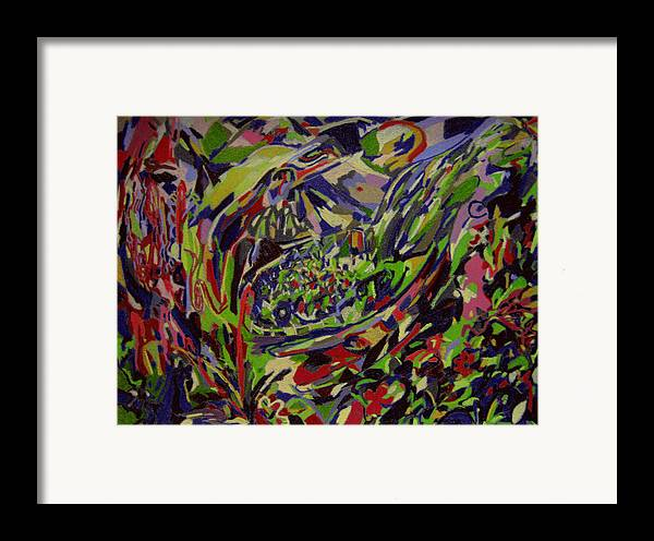 Fantasy Framed Print featuring the painting Lodge Of Bliss by Tadeush Zhakhovskyy