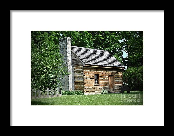 Log Framed Print featuring the photograph Log Cabin by Jost Houk