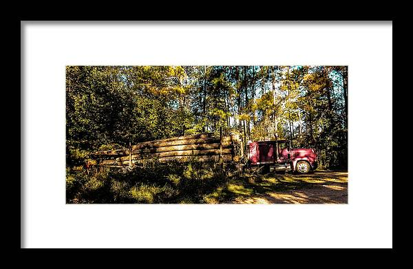 Woods Framed Print featuring the photograph Log Truck by Leon Hollins III