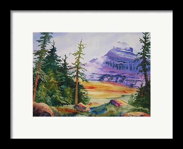 Landscape Framed Print featuring the painting Logan Pass by Karen Stark