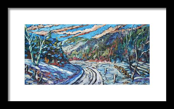Loggers Framed Print featuring the painting Loggers Road by Richard T Pranke