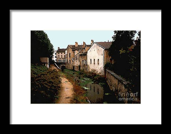 France Framed Print featuring the photograph Loire Valley Village Scene by Nancy Mueller