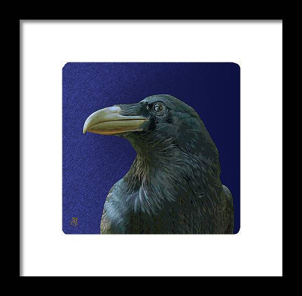 Raven As Loki The Mischief Maker. Framed Print featuring the digital art Loki by John Helgeson
