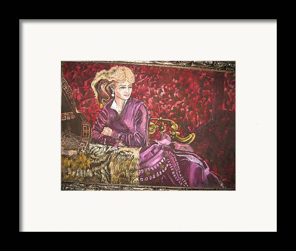 Actress Singer Dancer Old West Framed Print featuring the painting Lola Montez by Lila Witt Locati