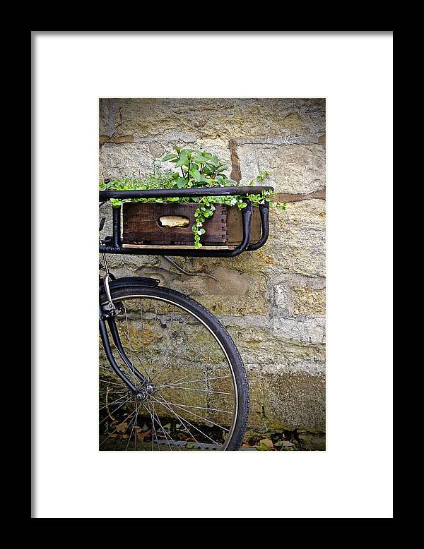 Framed Print featuring the photograph London Bike by Lori Leigh