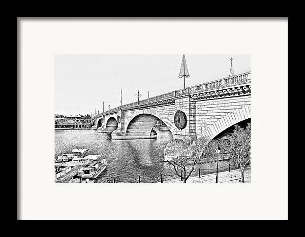 Lake Havasu Framed Print featuring the photograph London Bridge Lake Havasu City Arizona by Christine Till