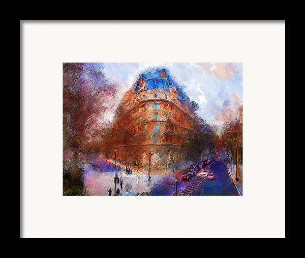 London Framed Print featuring the mixed media London Central by Marilyn Sholin