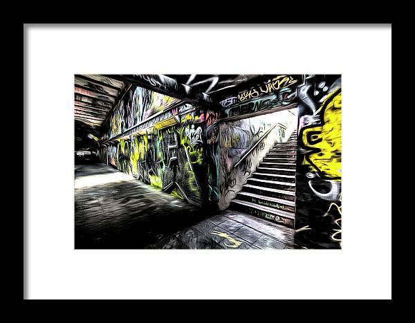 Graffiti Sketch Framed Print featuring the photograph London Graffiti Art by David Pyatt