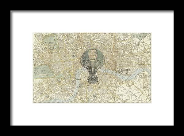 London Framed Print featuring the mixed media London Travels by Brett Nelson