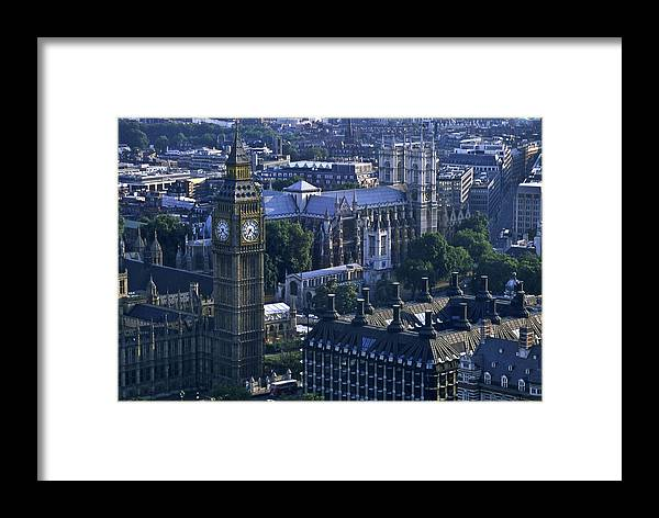 London Framed Print featuring the photograph London by Wes Shinn