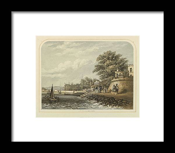 Nature Framed Print featuring the painting London West Cowes, Isle Of Wight by Artistic Rifki