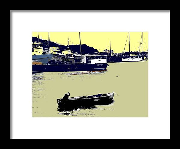 St Kitts Framed Print featuring the photograph Lone Boat by Ian MacDonald