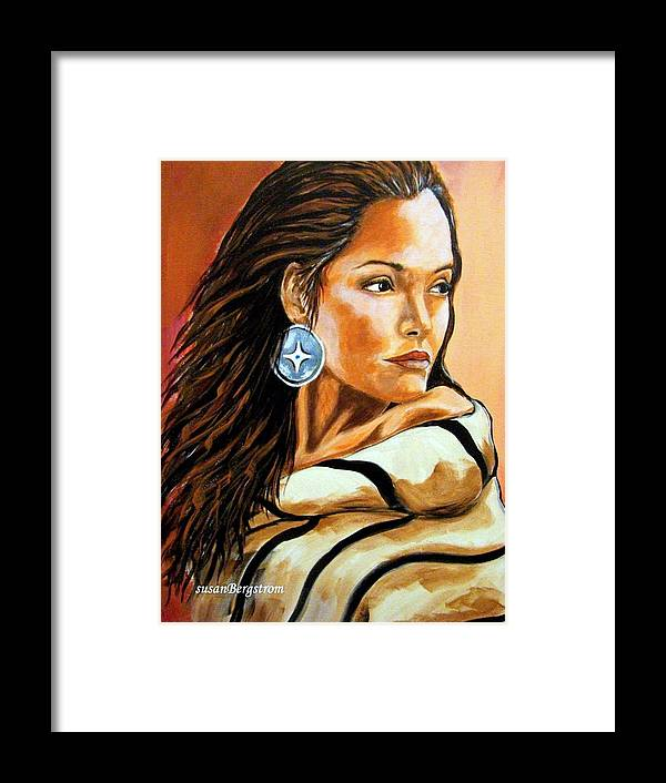 Native American Framed Print featuring the painting Lone Star by Susan Bergstrom