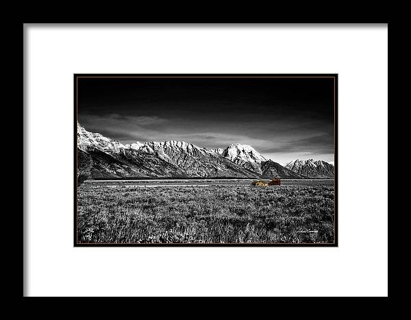 Jackson Hole Framed Print featuring the photograph Lonely Homestead by Richard Cronberg