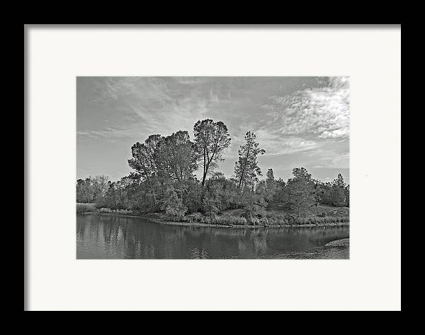Landscape Framed Print featuring the photograph lonely Island by M Ryan