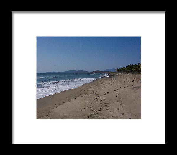 Ocean Framed Print featuring the photograph Lonely Sand by James Johnstone