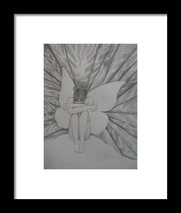 Fairy Framed Print featuring the drawing Lonely by Theodora Dimitrijevic