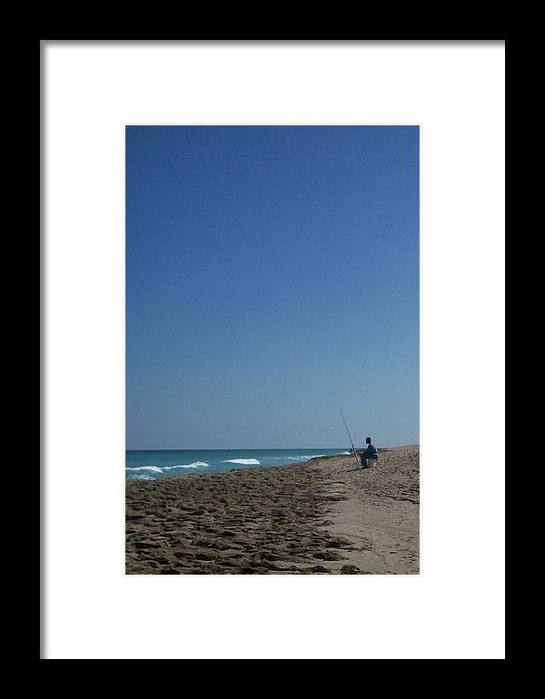Surf Framed Print featuring the photograph Loner by Karen Thompson