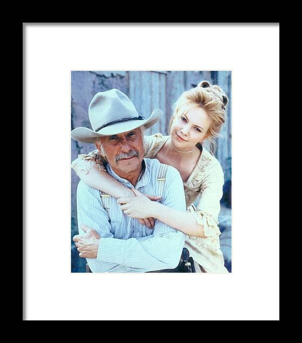 50356f5386663 Old West Poster Framed Print featuring the photograph Lonesome Dove Gus And  Lori by Peter Nowell. Wall View 001