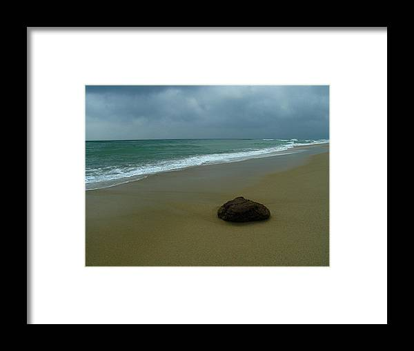 Beach Framed Print featuring the photograph Lonesome by Juergen Roth