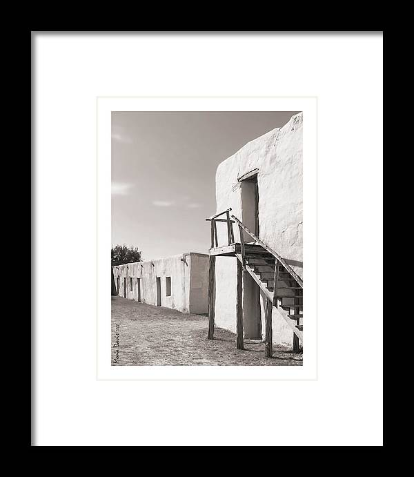 Alamo Framed Print featuring the photograph Long Barrack by Mona Davis