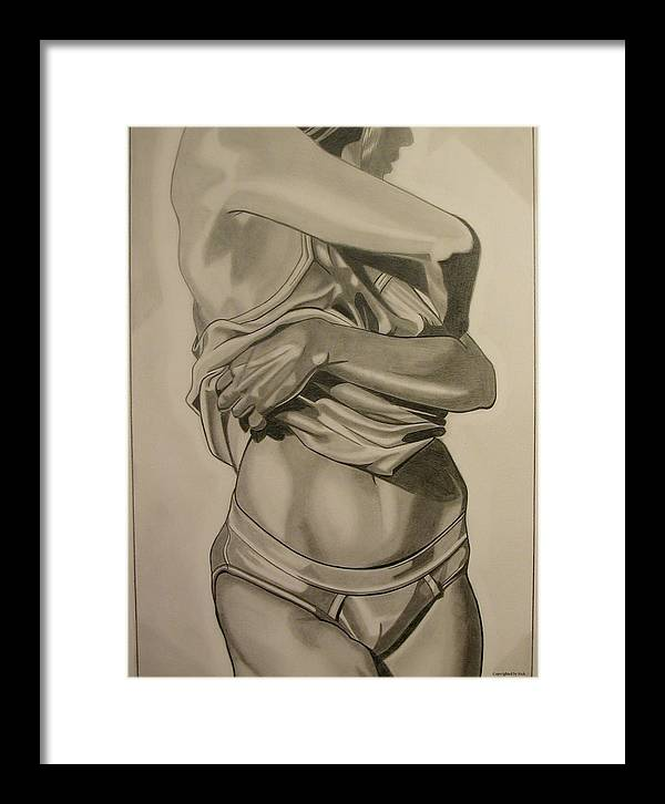 Pencil Framed Print featuring the drawing Long Day by Nick H