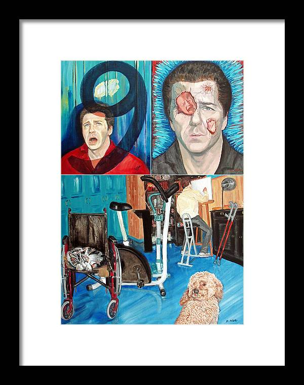 Portrait Framed Print featuring the painting Long Disease by Aymeric NOA