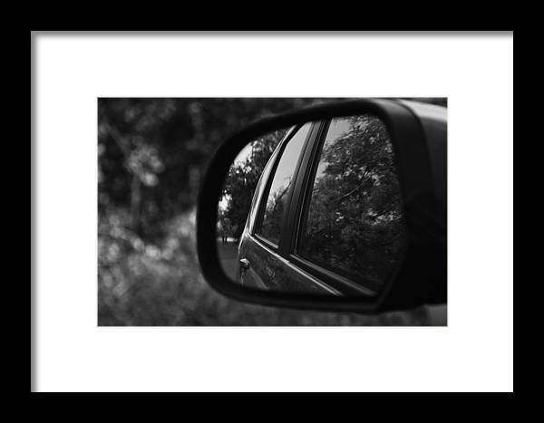 Mirror Framed Print featuring the photograph Long Drive by Aditi Shree