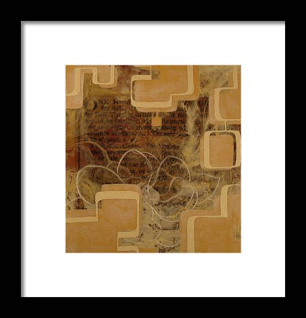 Abstract Framed Print featuring the painting Long Gone And Far Away by Monica James