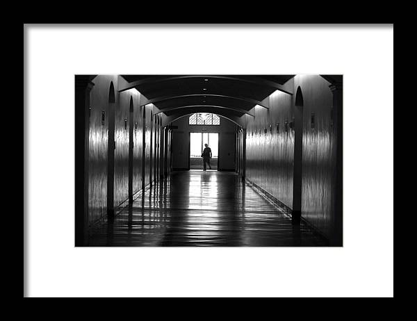 Black&white Framed Print featuring the photograph Long Haul by Dan Holm