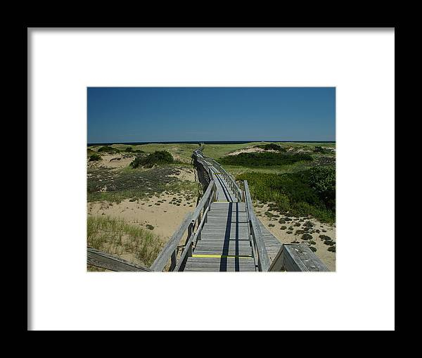 Landscape Framed Print featuring the photograph Long Walk by Eric Workman