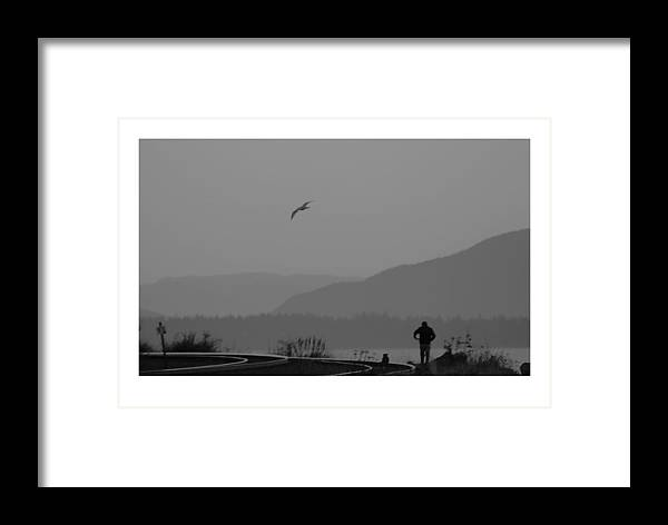 Black Framed Print featuring the photograph Long Walk by J D Banks