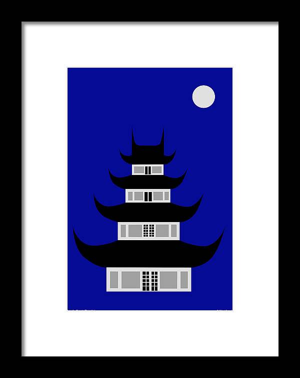 Framed Print featuring the digital art Longhua by Asbjorn Lonvig
