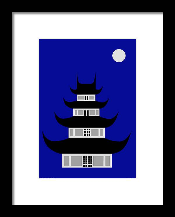 Framed Print featuring the digital art Longhua by Asbjorn Lonvig