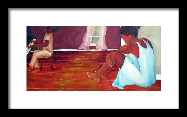 Piano Framed Print featuring the painting Longing by Alima Newton
