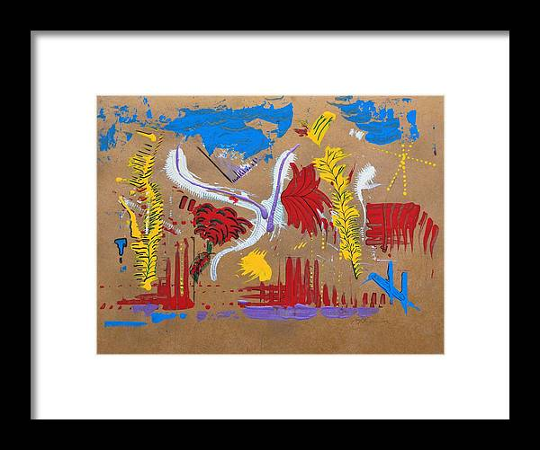 Abstract Framed Print featuring the painting Longing For Autumn by J R Seymour