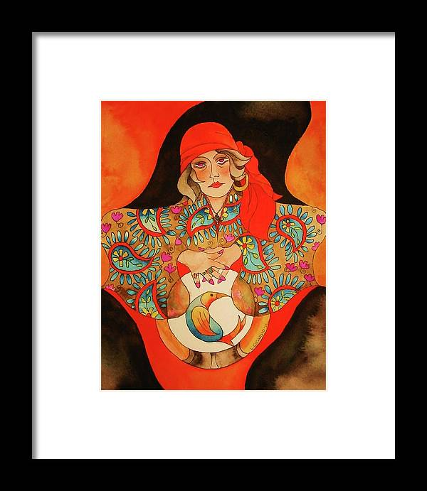 Fun Framed Print featuring the painting Look Into My Eyes-sold by Lou Cicardo