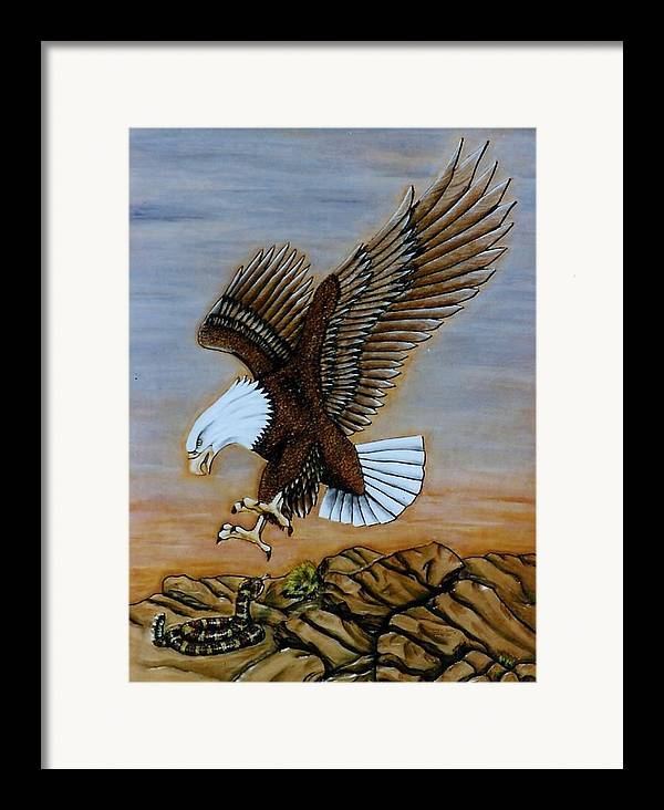 Animals Framed Print featuring the painting Look Out. by Lilly King