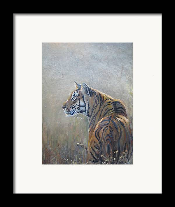 Animal Life Framed Print featuring the sculpture Look Out by Todd Gates