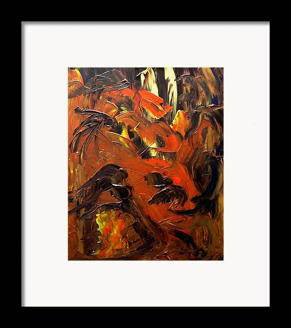 Abstract Framed Print featuring the painting Look To Heaven Through The Heart by Karen L Christophersen