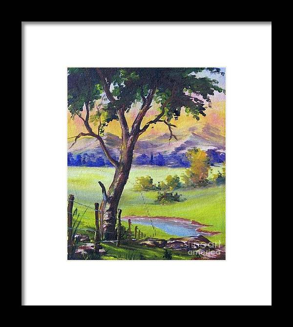 Framed Print featuring the painting Look To The Horizon by Leomariano artist BRASIL