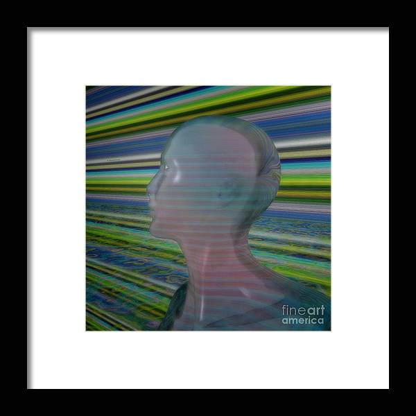 Design Framed Print featuring the mixed media Look To The Nowhere by Mando Xocco