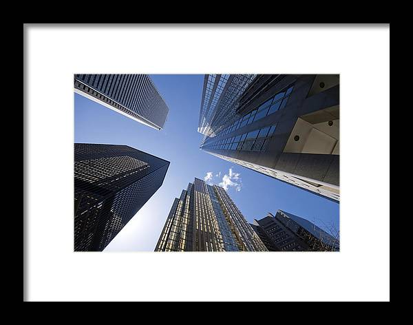 Architecture Framed Print featuring the photograph Look Way Up by Mary Lane