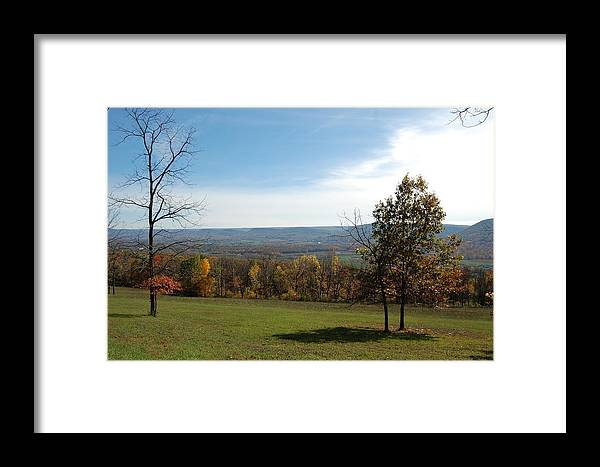 Fields Framed Print featuring the photograph Looking At Fall Colors In The Field by Richard Botts