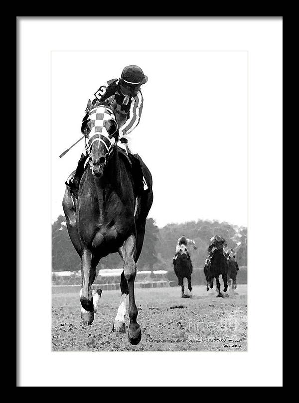 Looking back, 1973 Secretariat, stretch run, Belmont Stakes by Thomas Pollart