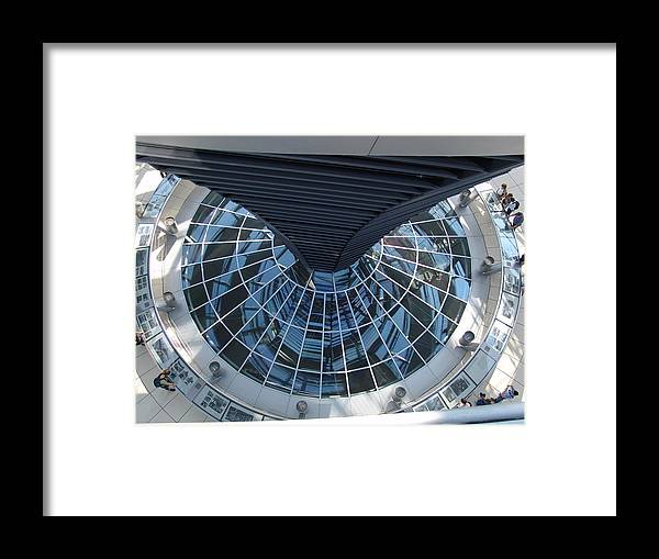 Reichstag Framed Print featuring the photograph Looking Down The Reichstag Berlin by Kevin Callahan