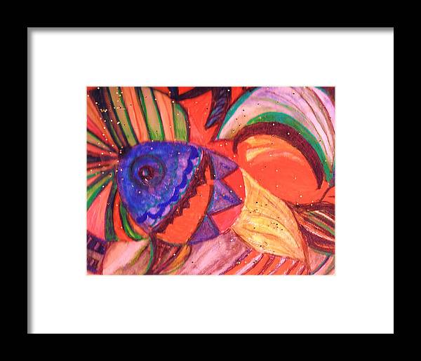 Rainbow Framed Print featuring the painting Looking For A Rainbow by Anne-Elizabeth Whiteway